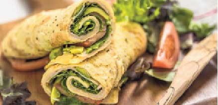 Recept van de week: Omelet wrap met spinazie